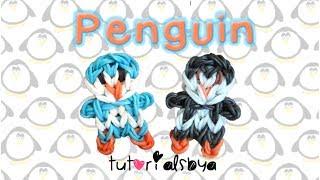 Penguin Charm / Mini Figurine Rainbow Loom Tutorial   How To