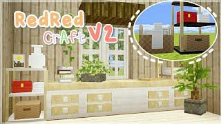 ・:゚* 50 Furniture Addon RedRed Craft V2 For MCPE ☕✨ ・:゚*