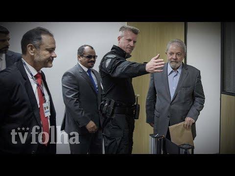 Veja o momento em que Lula chega à sala onde concedeu entrevista à Folha