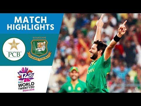 Afridi Stars in Comfortable Win | Pakistan vs Bangladesh | ICC Men's #WT20 2016 – Highlights