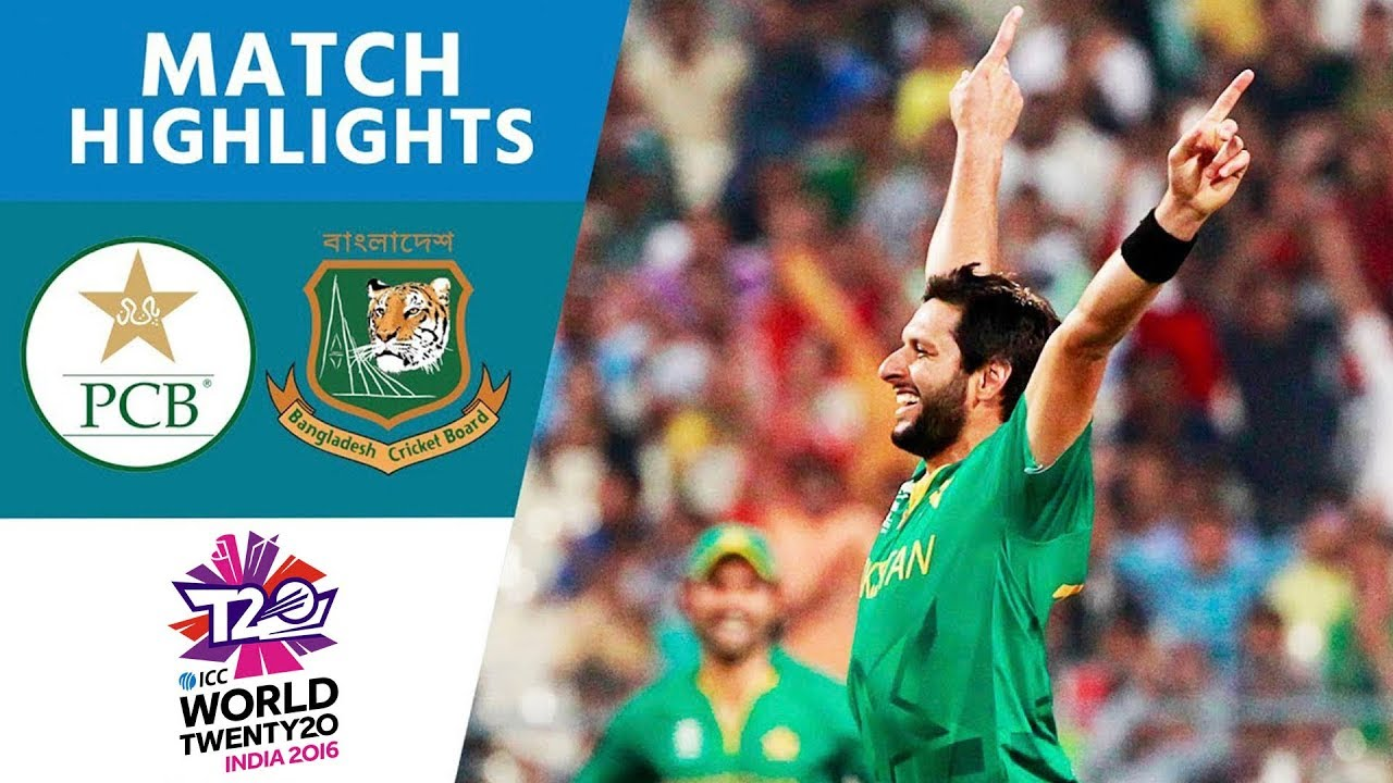 Afridi Stars in Comfortable Win | Pakistan vs Bangladesh | ICC Men's #WT20 2016 - Highlights