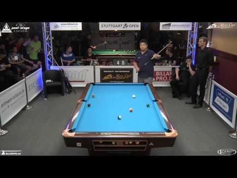Stuttgart Open 2014, No. 13, 1/32 Final Mario He vs. Tim Schöbel, 10-Ball, Pool-Billard