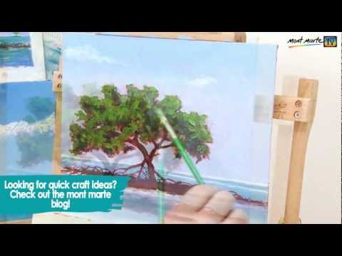How to paint an impressionist beach