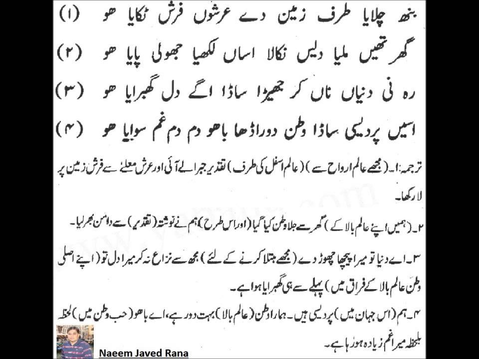 Download Kalaam e Bahoo In Punjabi & Translate in Urdu (CD 1)