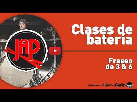 Clases de batería - Fraseo de 3 y 6. LECCIONES DE BATERIA EN ESPAÑOL