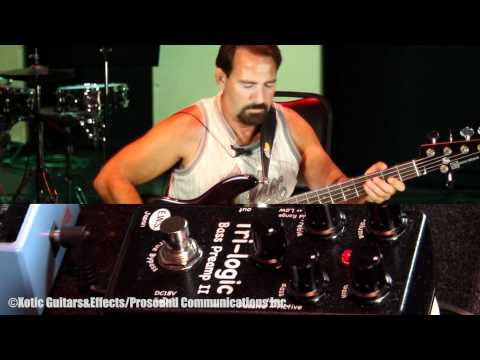 Rick Hollander with E.W.S. Tri-logic Bass Preamp 2