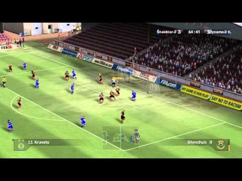 Динамо Киев против Шахтарь FIFA 08