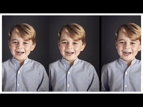 NEW Prince George Portrait Released To Mark 4th Birthday! Kensington Palace Release New Photograph.