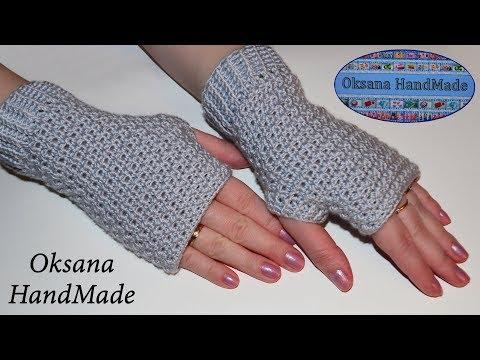 Как вязать ажурные перчатки крючком для начинающих схемы