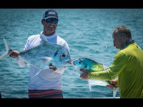 African Pompano fishing with Andy, Sande and Peter Miller out of Hawks Cay: Part 1