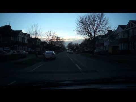 Driving in North Harrow towards Pinner