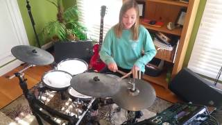 mia girl drummer 12 year old rock and roll led zeppelin