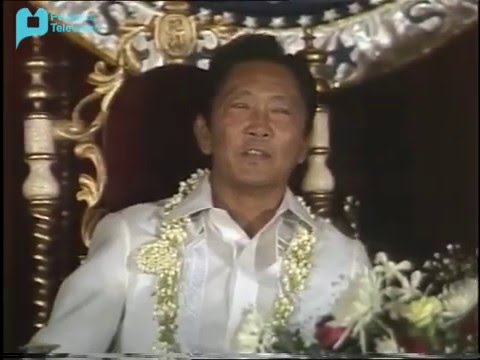 Speech of President Marcos during the termination of Martial Law, January 17, 1981