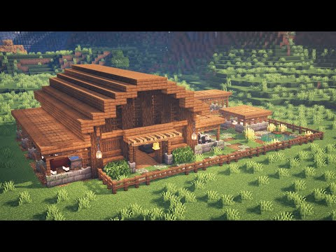 Minecraft | How to Build a Barn for Animals (READ DESCRIPTION)