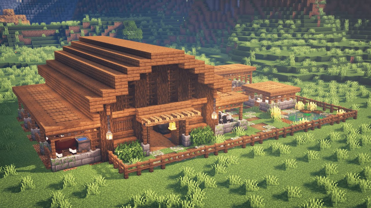 Minecraft  How to Build a Barn for Animals (READ DESCRIPTION)