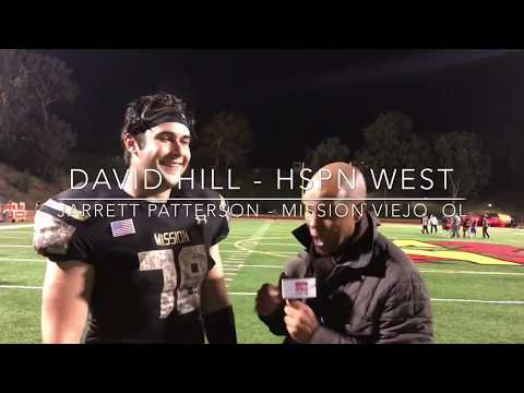 Jarrett Patterson OL Mission Veijo 'Impact Player' with HSPN David Hill POST GAME INTERVIEW