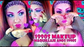 1990s Makeup For Halloween 2013 - noche de brujas 2013 tutorial #1