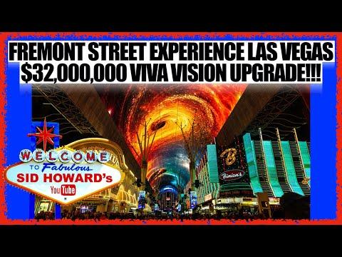 BRAND NEW UPGRADE FREMONT STREET EXPERIENCE LAS VEGAS VIVA VISION LIGHT SHOW