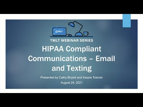 HIPAA Compliant Communications Email and Texting