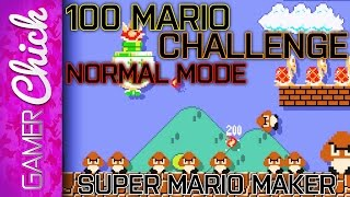 ❋ Super Mario Maker - 100 Mario Challenge (Normal) - Part 2 - CLASSIC BOSS LVL (WiiU) w/GamerChick