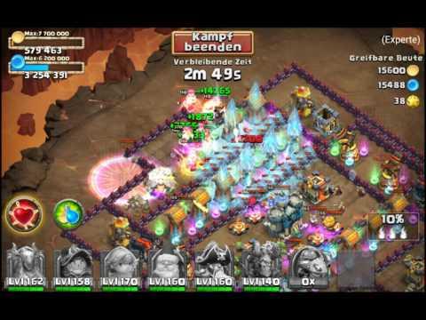 Castle Clash # 48 / Expert Dungeon 6 - 2 / No Mino & SM ( 3 Stars )