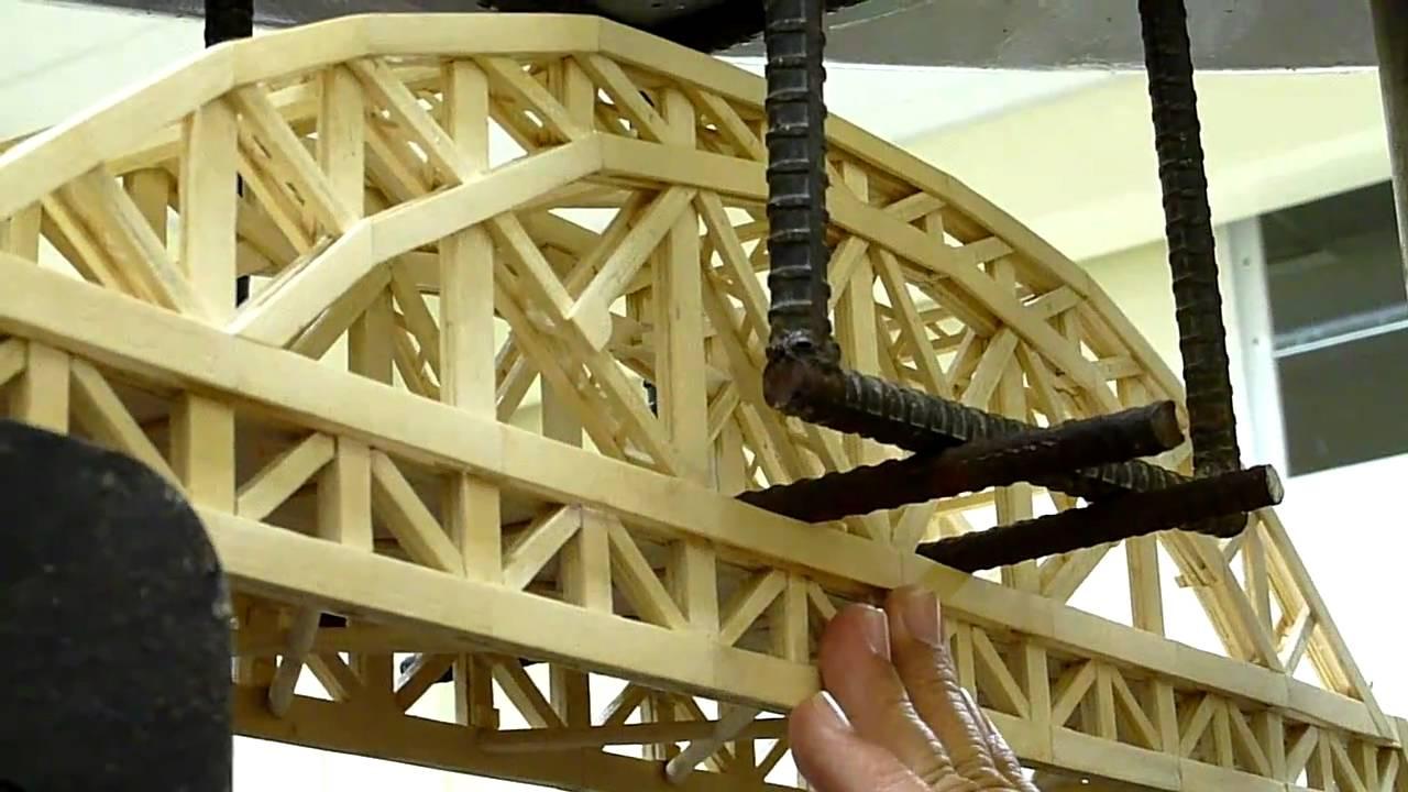Dlsu 7th Popsicle Stick Bridge Testing 2011 Youtube