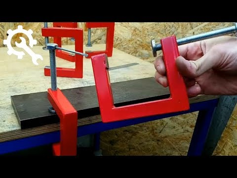 HOW to MAKE C-CLAMPS using old rusty iron / for diy