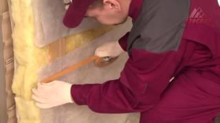 Монтаж Изоспан В пароизоляция каркасная стена(При монтаже каркасных стен в качестве пароизоляции применяться Изоспан В. Пароизоляция Изоспан В- защищае..., 2014-01-17T08:16:46.000Z)