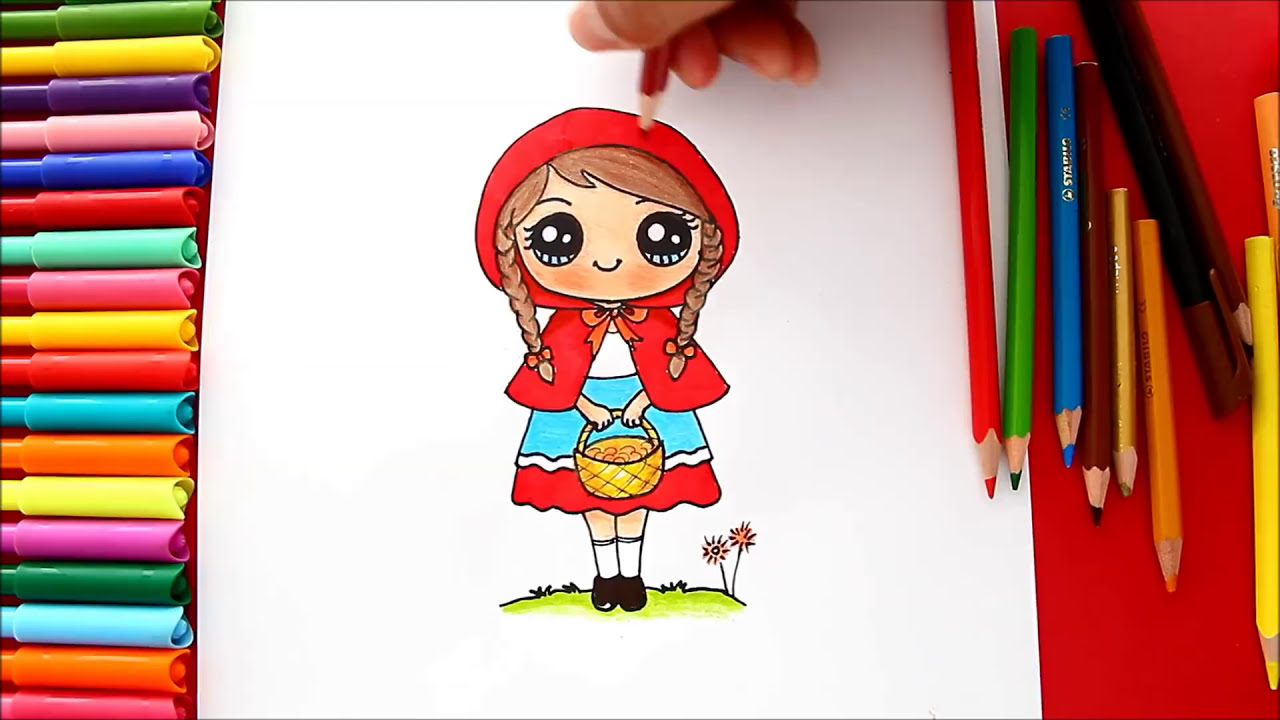 Cómo Dibujar A Caperucita Roja De Manera Fácil How To Draw Little Red Riding Hood Kidslet Sdraw Thewikihow