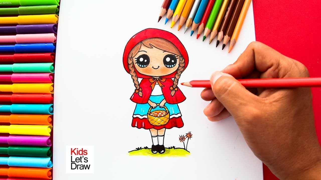 Cómo Dibujar A Caperucita Roja De Manera Fácil How To Draw Little Red Riding Hood Youtube