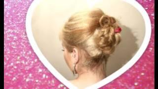 ☆ DZIEWCZĘCA FRYZURA NA WALENTYNKI / GIRLY UPDO FOR VALENTINES  WSTĄŻKA RIBBON ☆