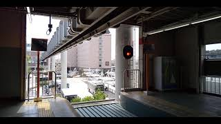 【ホーム激震】大船駅に到着する湘南モノレール【ジェットコースター】
