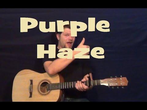Purple Haze (Jimi Hendrix) Easy Guitar Lesson How to Play Tutorial