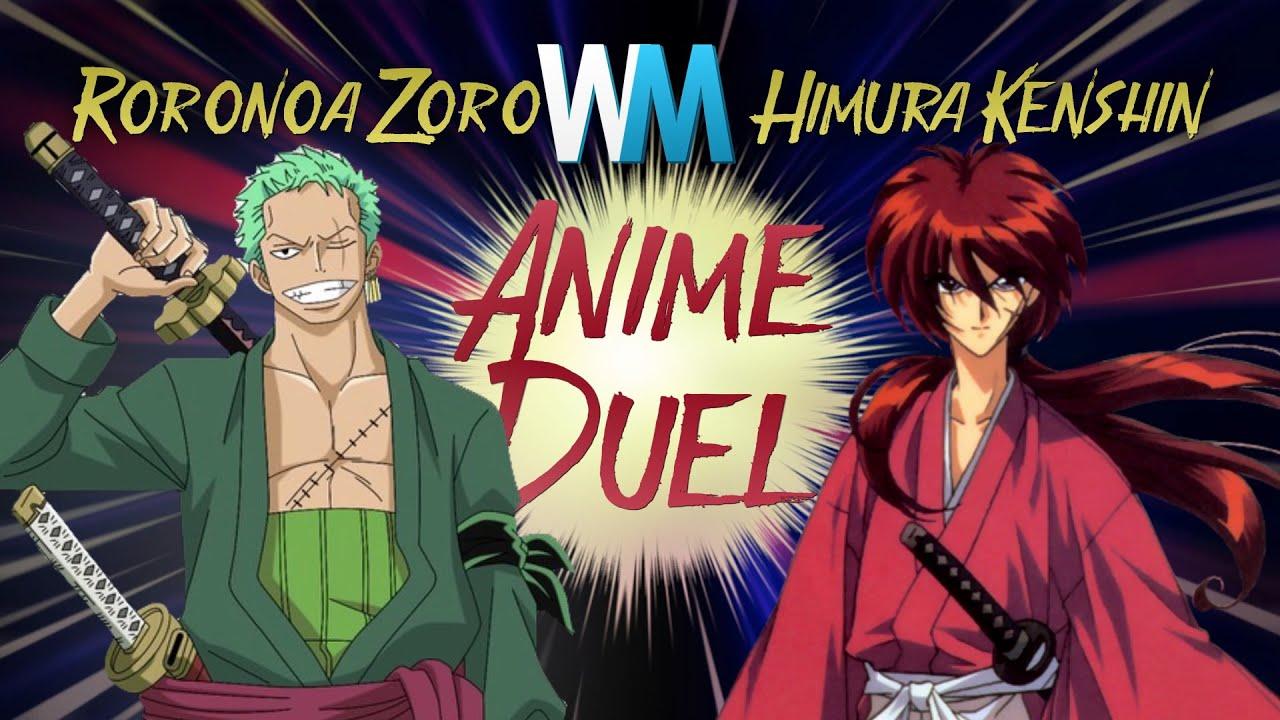 anime duel roronoa zoro vs himura kenshin youtube