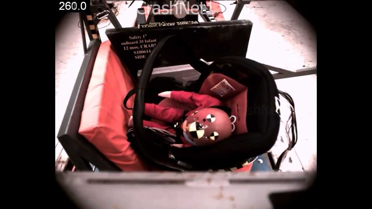 child seat crash test safety 1st onboard 35 infant. Black Bedroom Furniture Sets. Home Design Ideas