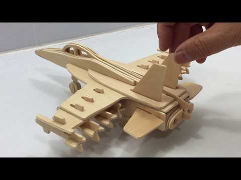 DIY Miniature F18 FIGHTER JET ~ 3D Wooden Puzzle