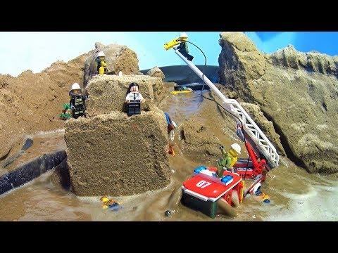 LEGO CITY FIRE RESCUE. LEGO DAM BREACH FILM