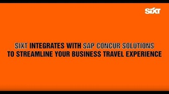 SIXT Business - how to connect your SIXT & SAP Concur profiles