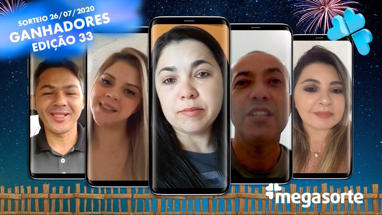 Ganhadores Mega Giros Edição 33 - Mega Sorte - 26/07/2020