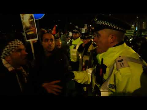 Protest against Trump declaring Jerusalem as Israel's capital - US Embassy, London