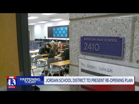 Jordan School District To Present Plan For Reopening Schools