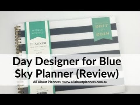 photograph relating to Day Designer Planners called Working day Designer for Blue Sky Horizontal Weekly Planner Examine
