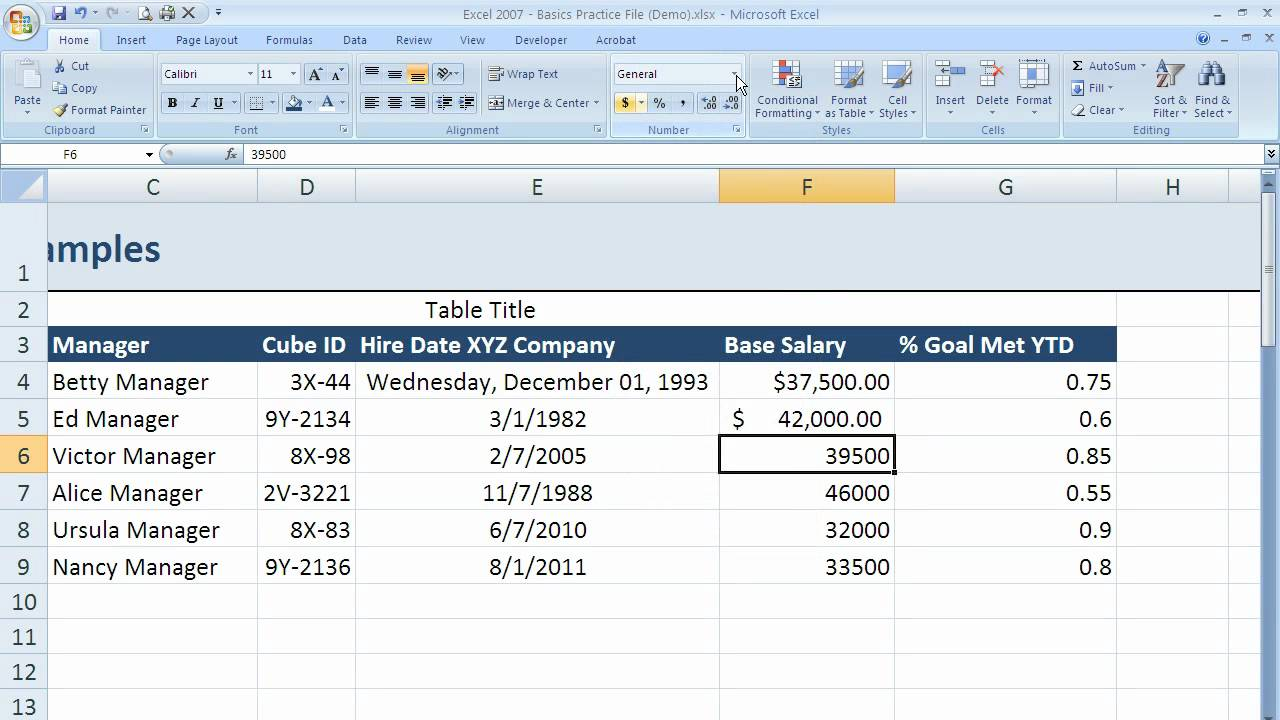 How to use currency and accounting formatting in Excel 2007 (Excel ...