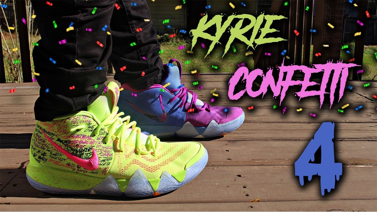 the latest 6fca6 79b0c kyrie confetti 4 review & Onfoot