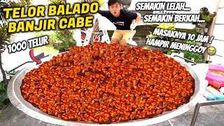 Download lagu BIKIN 1000 TELUR BALADO LEVEL 1000! BANJIR CABE PEDES SATU KUALI.