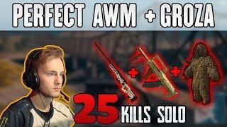 AWM + GROZA + GHILLIE - Jeemzz 25 kills SOLO FPP PUBG HIGHLIGHTS TOP 1 #205