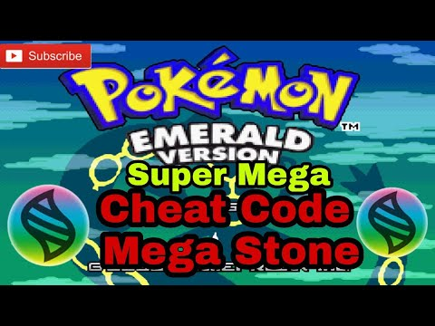 Cheat Code Mega Stone / Pokemon Super Mega Emerald GBA / Hack Roms GBA