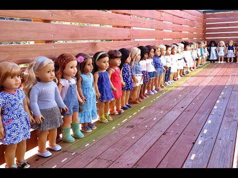 What My American Girl Dolls Are Wearing For Back To School ~ Over 30 Dolls