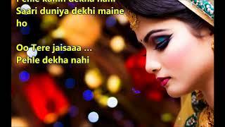 Tere jaisa mukhda to - Pyar Ke Kabil - Full karaoke with scrolling lyrics