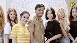 Manny Pacquiao and Jinkee Pacquiao with K Pop Group Momoland